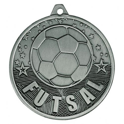 Cascade Futsal Iron Medal Antique Silver 50mm